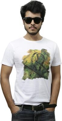 Gypsy Soul Graphic Print Men's Round Neck White T-Shirt