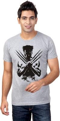 Sharq Printed, Graphic Print Men's Round Neck Grey T-Shirt