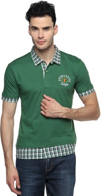 Swing9 Embroidered Men's Polo Neck Dark Green T-Shirt