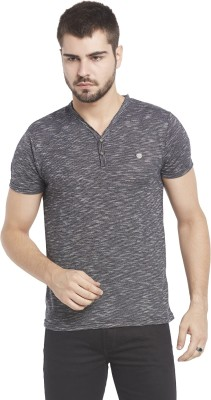 Globus Solid Men,s V-neck Grey T-Shirt