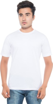 CKL Solid Men's Round Neck White T-Shirt