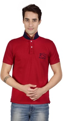 Royal Sport League Solid Men's Polo Neck Red T-Shirt