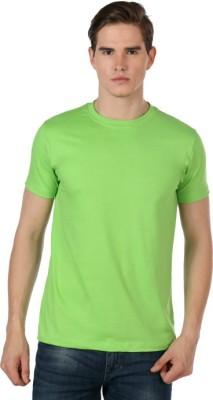 Shootr Solid Men's Round Neck Light Green T-Shirt