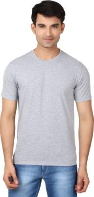 Essentiele Solid Men's Round Neck Grey T-Shirt