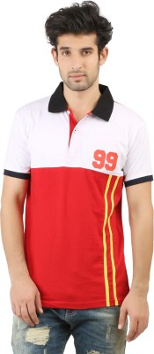 Hotfits Solid Men's Polo Neck Red T-Shirt
