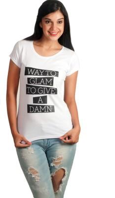 VogueCentric Graphic Print Women's Round Neck White T-Shirt