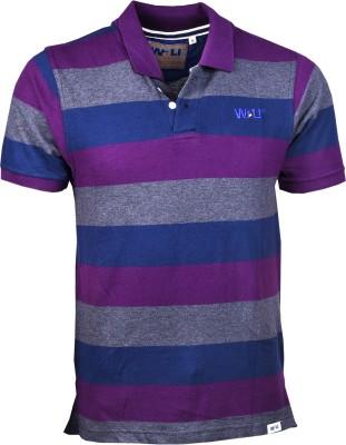 Wali Striped Men's Polo Neck T-Shirt
