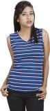 Defossile Striped Women's V-neck Multico...