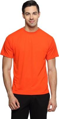 Sulpher Solid Men's Round Neck Orange T-Shirt