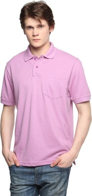 Tempt Solid Men's Polo Neck Pink T-Shirt