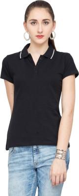 Alibi Solid Women's Polo T-Shirt