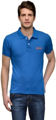 Tailor Craft Solid Men's Polo Blue T-Shirt