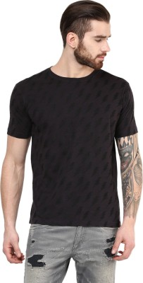 PUNK Printed Men,s Round Neck Brown T-Shirt