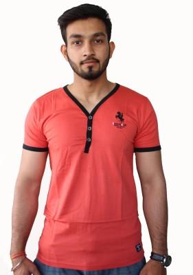 H&R Solid Men's V-neck T-Shirt