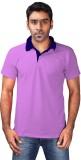 Chakravarthi Solid Men's Polo Neck Pink ...