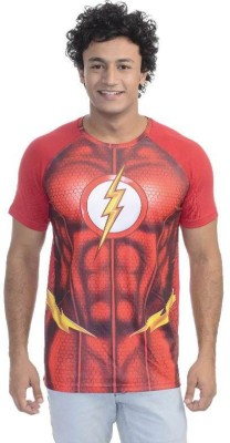 DC COMICS Printed Men's Round Neck Red T-Shirt