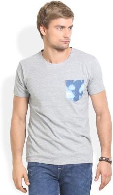 Thisrupt Solid Men's Round Neck Grey T-Shirt