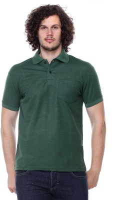 Rose Taylor Solid Men,s Polo Green T-Shirt
