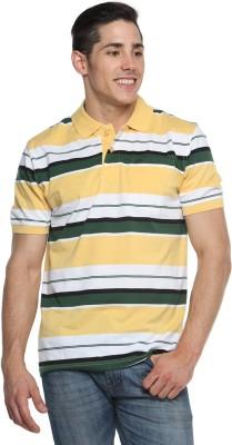 Tempt Striped Men's Polo Neck T-Shirt