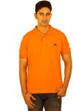 Bleidd Solid Men's Polo Neck Orange T-Sh...
