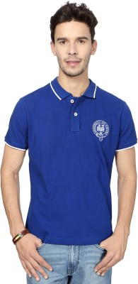 University of Oxford Solid Men's Polo Neck T-Shirt