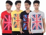 Burdy Printed Men's V-neck Multicolor T-...