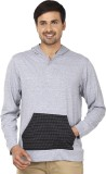 Ruse Solid Men's Hooded Grey T-Shirt