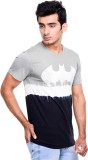 Batman Printed Men's Round Neck Grey, Bl...