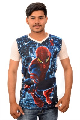 YOUTH & STYLE Graphic Print Men's V-neck Multicolor T-Shirt