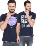 Sera Printed Men's Round Neck Multicolor...
