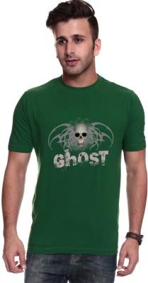 Trendster Printed Men's Round Neck Green T-Shirt