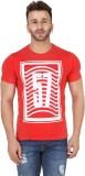 Spunk Printed Men's Round Neck Red T-Shi...
