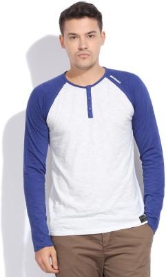 Breakbounce Solid Men's Henley T-Shirt