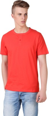 Aventura Outfitters Solid Men's Henley Red T-Shirt