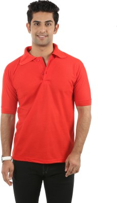 Fidato Solid Men's Polo Orange T-Shirt
