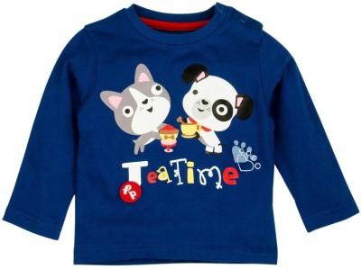 Fisher-Price Printed Baby Boy's Round Neck Blue T-Shirt