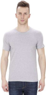 Pick Indiana Solid Men's Round Neck Grey T-Shirt