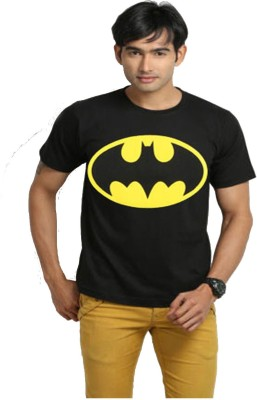 Bornify Printed Men's Round Neck Black T-Shirt