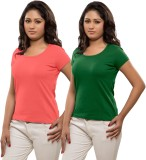 Hbhwear Solid Women's Round Neck T-Shirt