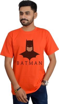 Swag Theory Printed Men's Round Neck Orange T-Shirt