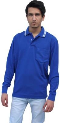 Romano Solid Men's Polo Neck Blue T-Shirt
