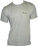 Lakomfort Solid Men's Round Neck Grey T-...
