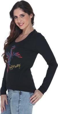Fast n Fashion Graphic Print Women's Round Neck Red, Blue T-Shirt