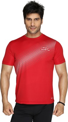 Aquamagica Printed Men's Round Neck Red T-Shirt