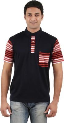 Neoteric Solid Men's V-neck Black T-Shirt
