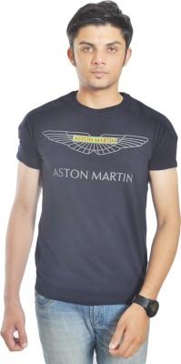 Hackett Graphic Print Men's Round Neck Blue T-Shirt