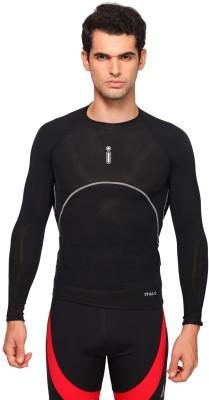 Italo Solid Men's Round Neck Black T-Shirt