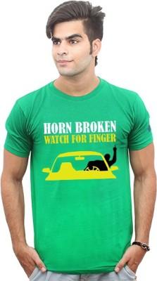 Jazzmyride Printed Men's Round Neck Green T-Shirt