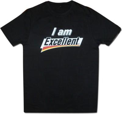 Guddi Creation Graphic Print Men's Round Neck Black T-Shirt