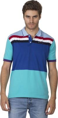 Duke Stardust Striped Men's Polo Neck T-Shirt